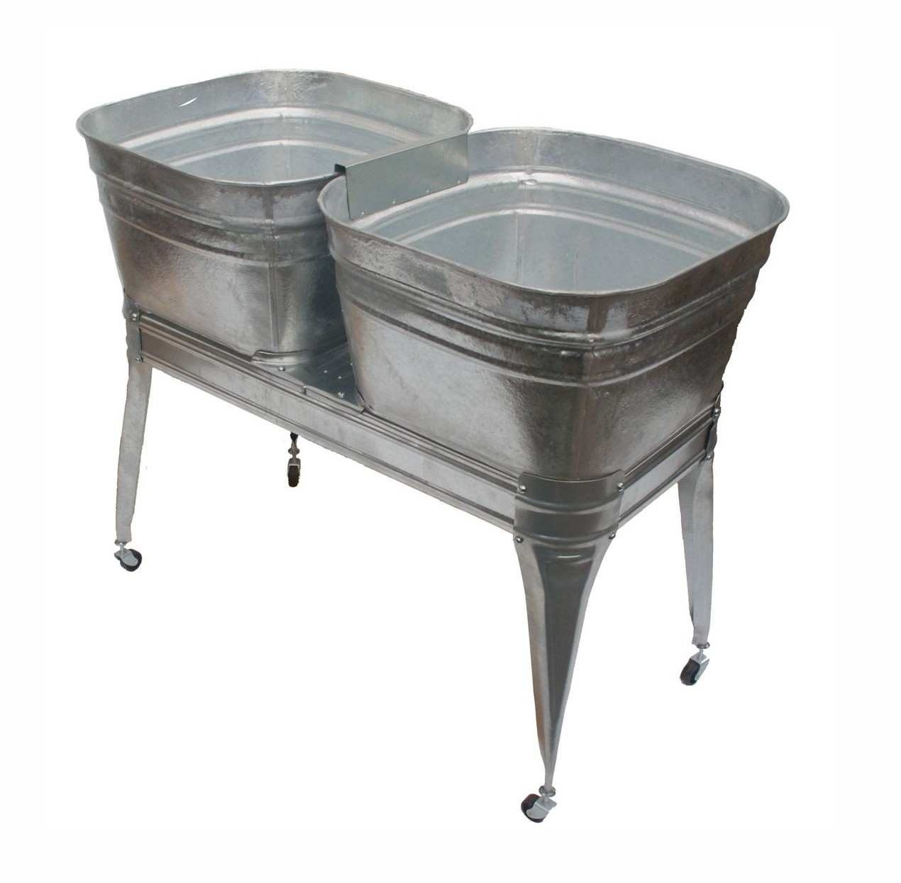 Square Wash Tub with stand - Single or Double - Wisemen Trading and ...
