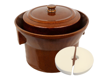 10 Liter Capacity Ceramic Fermentation Crock Pot