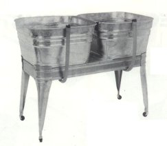 Square Wash Tub With Stand Single Or