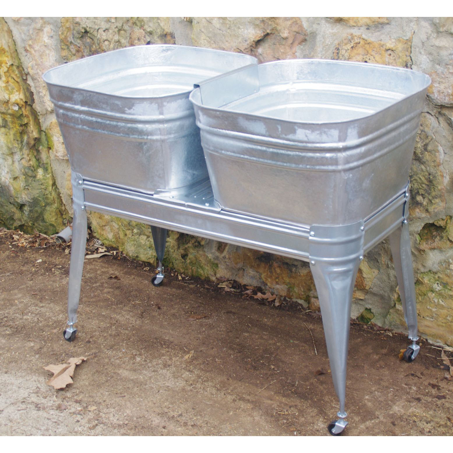 Square Wash Tub With Stand Single Or Double Wisemen Trading And Supply