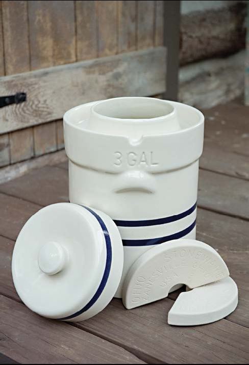 3 Gallon Ohio Stoneware Pickling Crock 3 Gal 11 35l