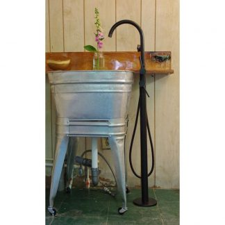 Square Wash Tub With Stand Single Or Double Wisemen