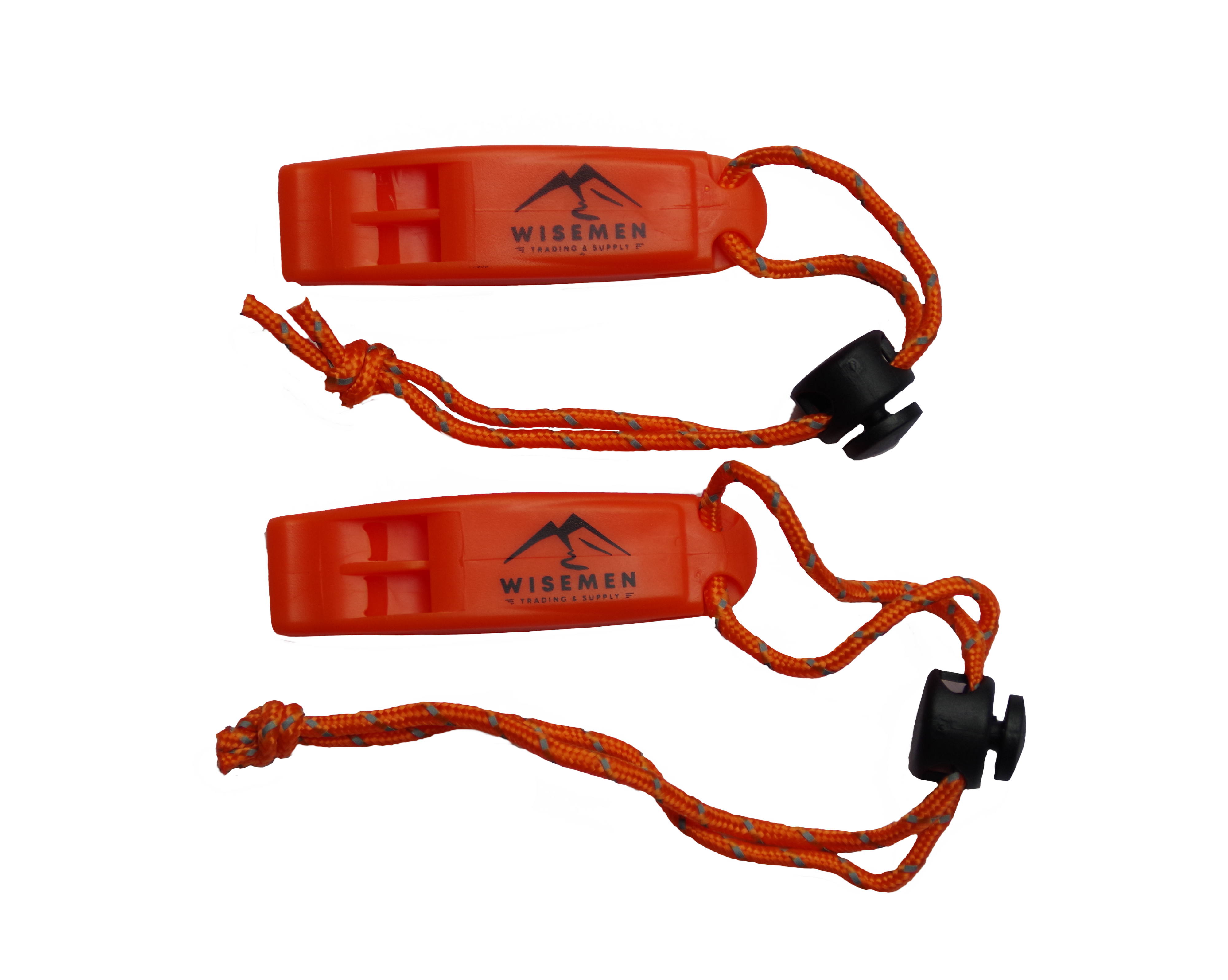 Hiking Hunting Boating Fishing Boat 2 Pack Wisemen Trading Whistles with Lanyard Survival for Kayak Life Vest Jacket Rescue Signaling Camping